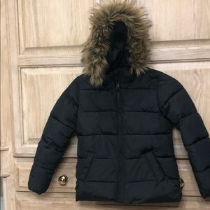 Gap kids black puffer coat